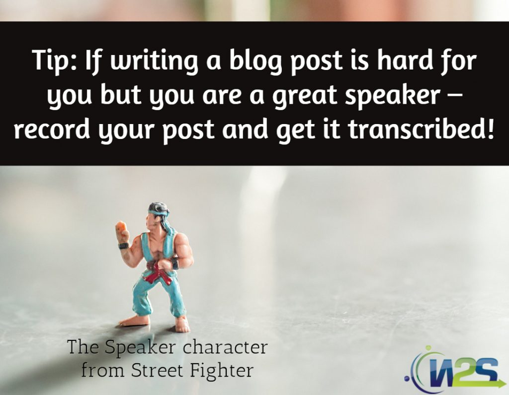 Tip about how to write a blog post without writing.