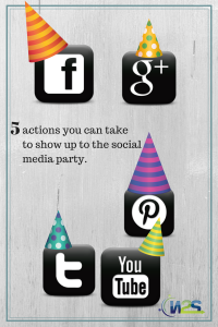 Here are 5 things you can do to show up to the social media party.