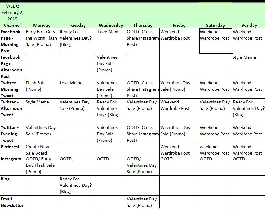 social media posting calendar template - how to create your social media calendar w2s marketing